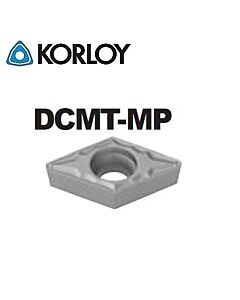 DCMT070202-MP CN2500, KORLOY, Tekinimo plokštelė KERMET atspari smūgiams ir vibracijoms
