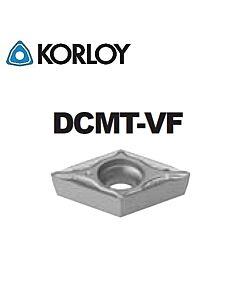 DCMT070204-VF CN2500, KORLOY, Tekinimo plokštelė KERMET atspari smūgiams ir vibracijoms
