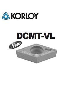 DCMT070204-VL CN2500, KORLOY, Tekinimo plokštelė KERMET atspari smūgiams ir vibracijoms