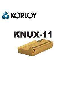 KNUX160410L-11 NC3225, KORLOY, Tekinimo plokštelė kietmetalinė su CVD danga, plienui, atspari smūgiams