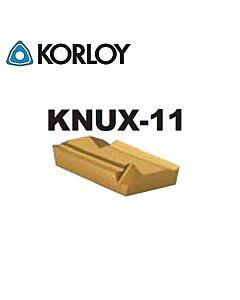 KNUX160405R-11 NC3225, KORLOY, Tekinimo plokštelė kietmetalinė su CVD danga, plienui, atspari smūgiams