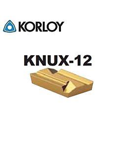 KNUX160405R-12 NC3225, KORLOY, Tekinimo plokštelė kietmetalinė su CVD danga, plienui, atspari smūgiams