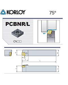 Tekinimo laikiklis, PCBNR4040-S25-5, KORLOY