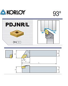 Tekinimo laikiklis, PDJNR4040-P15, KORLOY