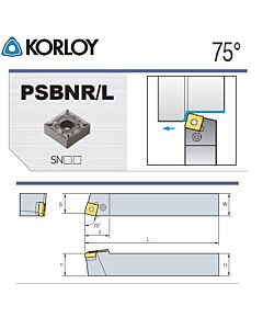 Tekinimo laikiklis, PSBNL2525-M15N, KORLOY