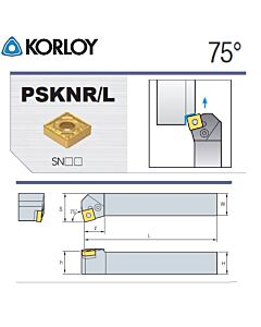 Tekinimo laikiklis, PSKNR4040-S25-6, KORLOY