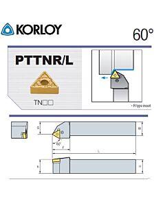 Tekinimo laikiklis, PTTNL2525-M16, KORLOY