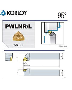 Tekinimo laikiklis, PWLNR3232-M08, KORLOY