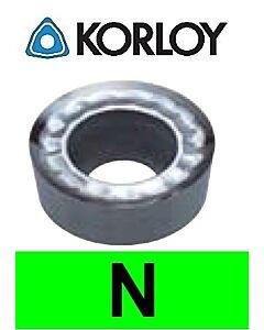 """Aliuminio tekinimo plokštelė su """"H"""" tolerancija, RCHT0803M0-AK H01, KORLOY"""