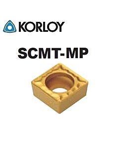 SCMT09T304-MP NC3225, KORLOY, Tekinimo plokštelė kietmetalinė su CVD danga, plienui, atspari smūgiams