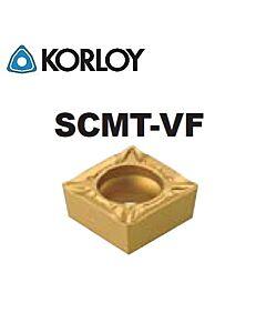 SCMT09T304-VF NC3225, KORLOY, Tekinimo plokštelė kietmetalinė su CVD danga, plienui, atspari smūgiams