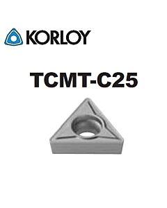 TCMT090208-C25 CN1500, KORLOY, Tekinimo plokštelė KERMET