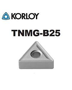 TNMG160412-B25 CN2500, KORLOY, Tekinimo plokštelė KERMET atspari smūgiams ir vibracijoms