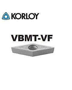 VBMT160404-VF CN2500, KORLOY, Tekinimo plokštelė KERMET atspari smūgiams ir vibracijoms