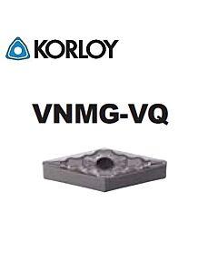 VNMG160404-VQ CN2500, KORLOY, Tekinimo plokštelė KERMET atspari smūgiams ir vibracijoms