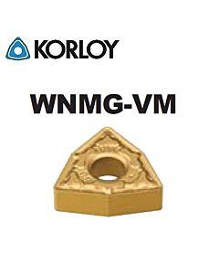 WNMG060408-VM NC3225, KORLOY, Tekinimo plokštelė kietmetalinė su CVD danga, plienui, atspari smūgiams