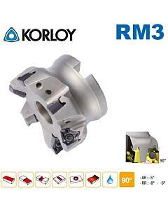 Freza su keičiamomis plokštelėmis 90', RM3PCM4080HR-M, KORLOY, plokštelės XNKT080508