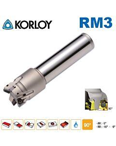 Freza su keičiamomis plokštelėmis 90', RM3PS3021HR-2S20, KORLOY, plokštelės XNKT060405