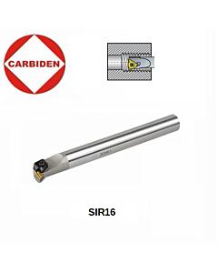 S16Q SIR 16 Sriegio tekinimo laikiklis, IR16 plokštelėms, SIR 005 ISO