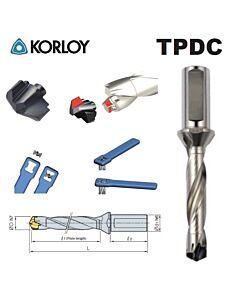 13,00 - 13,49mm, TPDC3D-13016-39 grąžtas su keičiamomis plokštelėmis, TPDC, KORLOY