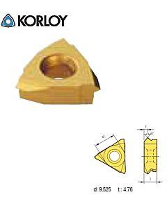 1,25mm žinksnis, Sriegio tekinimo plokštelė, kitmetalinė, KORLOY VETR125 ST10