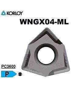 WNGX040304PNER-ML PC3600, FREZAVIMO PLOKŠTELĖ, KORLOY