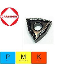 WNMG080404-TM XNG151, Tekinimo plokštelė, kietmetalinė, nerūdijančiam plienui ir plienui,  CARBIDEN