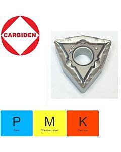 WNMG080408-TM XNG151, Tekinimo plokštelė, cermet, nerūdijančiam plienui ir plienui,  CARBIDEN