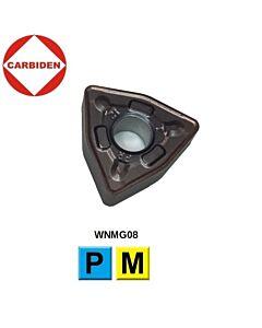 WNMG080412-PR XNG152, Tekinimo plokštelė, kietmetalinė, nerūdijančiam plienui ir plienui, CARBIDEN