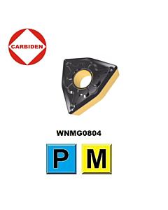 WNMG080404-TM HS8125, Tekinimo plokštelė su PVD ir CVD danga, nerūdijančiam plienui ir plienui, CARBIDEN