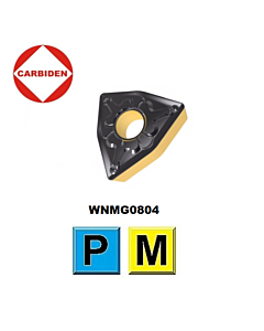 WNMG080408-TM HS8125, Tekinimo plokštelė su PVD ir CVD danga, nerūdijančiam plienui ir plienui,  CARBIDEN
