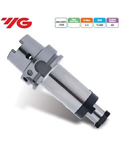 Laikiklis frezai su kiauryme arba pjūklui, DIN 69893 HSK (ISO 12164-1 HSK), HSK100A-CMA27-60, YG
