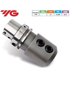 HSK63A-EMH20-80, laikiklis WELDON Tipo, DIN 69893 HSK (ISO 12164-1 HSK), YG